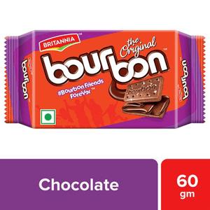 60 g Pouch Britannia Bourbon Cream Biscuit - Chocolate Flavor