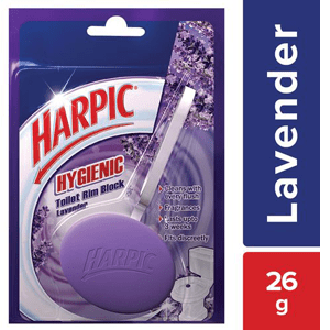 26 g - Harpic Hygienic Toilet Rim Block Lavender